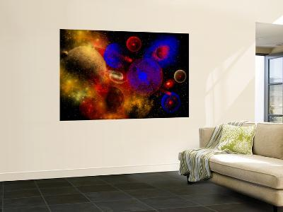 The Universe and its Wondrous Colors and Variety of Stars and Planets-Stocktrek Images-Wall Mural