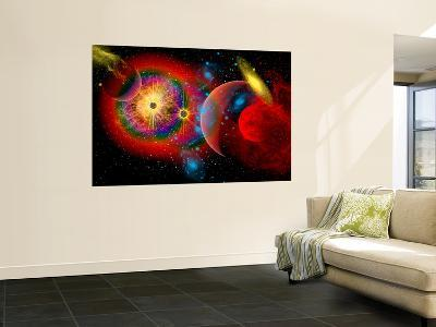 The Universe in a Perpetual State of Chaos-Stocktrek Images-Wall Mural