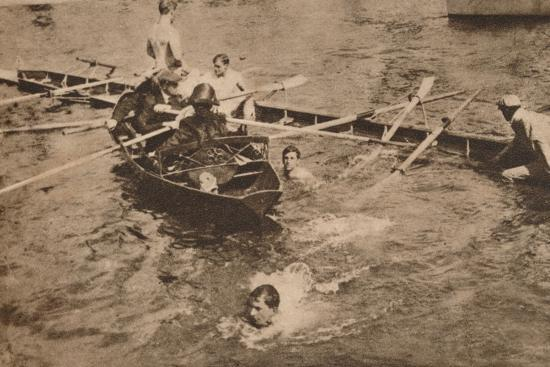 The University Boat Race, March 1912 (1935)-Unknown-Photographic Print