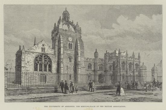 The University of Aberdeen, the Meeting-Place of the British Association--Giclee Print