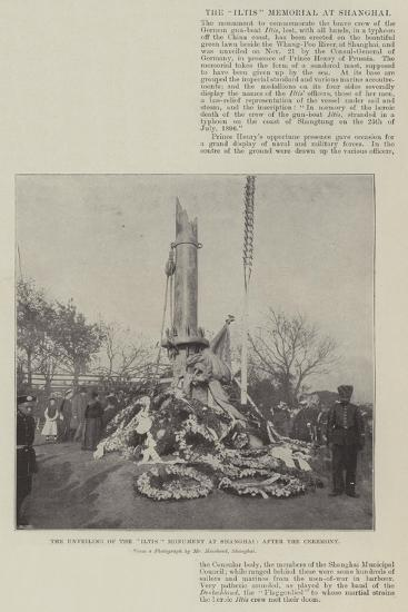 The Unveiling of the Iltis Monument at Shanghai, after the Ceremony--Giclee Print