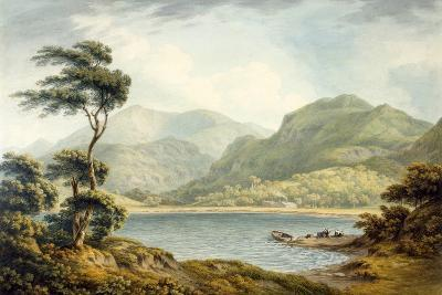 The Upper End of Coniston Lake, Lancashire, 1801-John Warwick Smith-Giclee Print