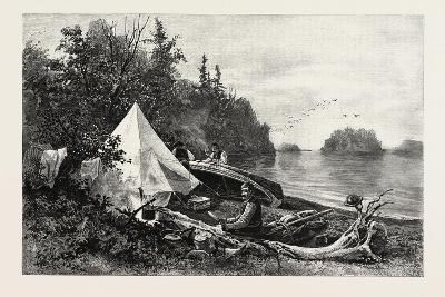 The Upper Lakes, Camp on Victoria Island, Canada, Nineteenth Century--Giclee Print