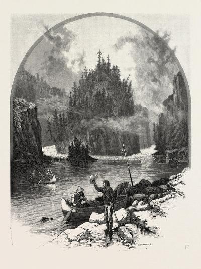 The Upper Lakes, Split Rock, Canada, Nineteenth Century--Giclee Print