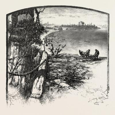 The Upper Ottawa, Timber Boom, Fitzroy Harbour, Canada, Nineteenth Century--Giclee Print