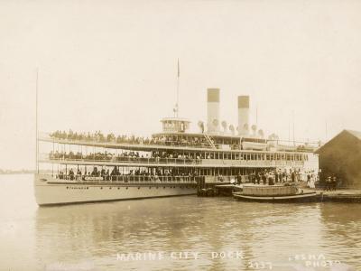 The US Mail Steamer Tashmoo, St. Clair River, Michigan, America--Photographic Print