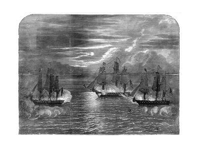 The 'USS Constitution' Capturing the 'Cyane' and 'Levant, 1815--Giclee Print