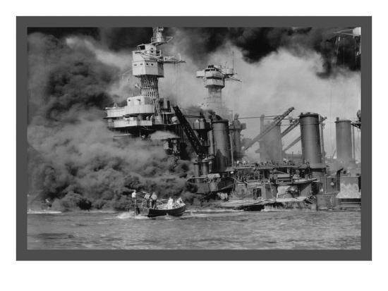 The Uss West Virginia at Pearl Harbor-U^S^ Gov'T Navy-Art Print