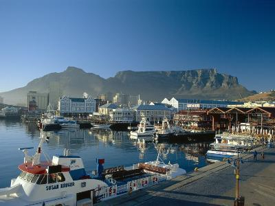 The V & A Waterfront and Table Mountain Cape Town, Cape Province, South Africa-Fraser Hall-Photographic Print