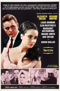 The V.I.P.S, from Left, Richard Burton, Elizabeth Taylor, 1963