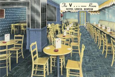 The V Room, Cocktail Lounge--Art Print
