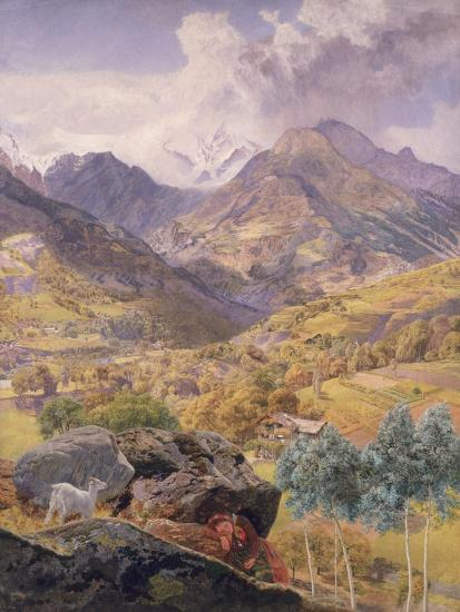 The Val D'Aosta, 1858-John Brett-Giclee Print