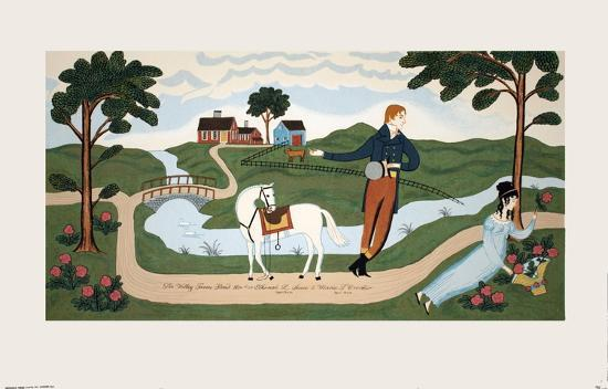 The Valley Farm Road (1810), Elkanah L. Sears and Maria F. Crocker-Unknown-Serigraph