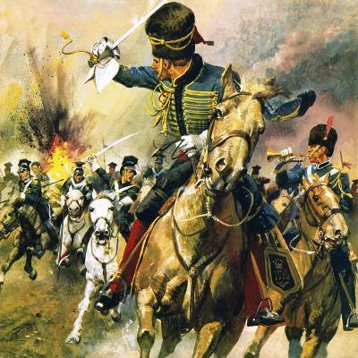 The Valley of Death - the Charge of the Light Brigade-English School-Giclee Print