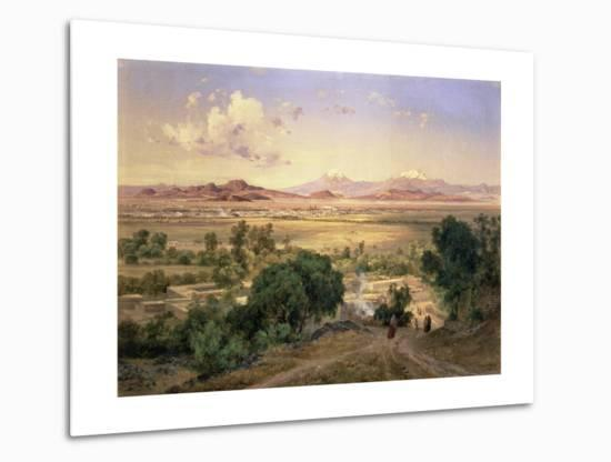 The Valley of Mexico from the Low Ridge of Tacubaya, 1894-Jose Velasco-Metal Print