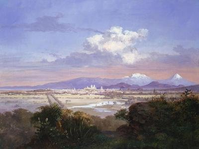 The Valley of Mexico with Volcanoes, 1879-Salvador Murillo-Giclee Print