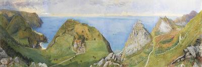 The Valley of the Rocks (W/C and Gouache Heightened with White)-William Henry Millais-Giclee Print