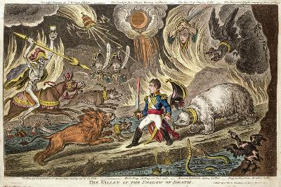 'The Valley of the Shadow of Death' by James Gillray, 1808--Giclee Print