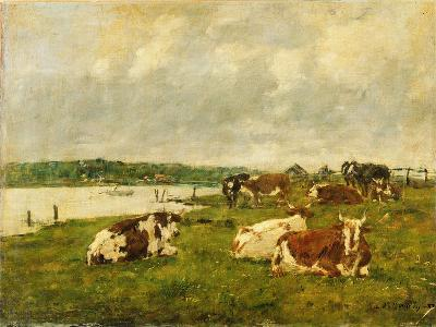 The Valley of the Touques, 1887-Eug?ne Boudin-Giclee Print