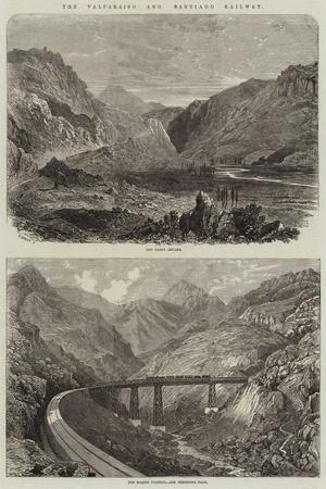 The Valparaiso and Santiago Railway--Giclee Print