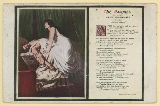 The Vampire by Rudyard Kipling Giclee Print by Edward Burne-Jones | Art com