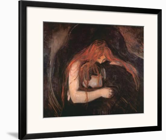 The Vampire-Edvard Munch-Framed Art Print