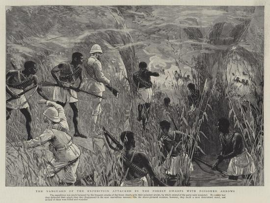 The Vanguard of the Expedition Attacked by the Forest Dwarfs with Poisoned Arrows--Giclee Print
