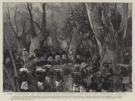 The Vanguard of the Expedition Marching Through the Primaeval Forest--Giclee Print