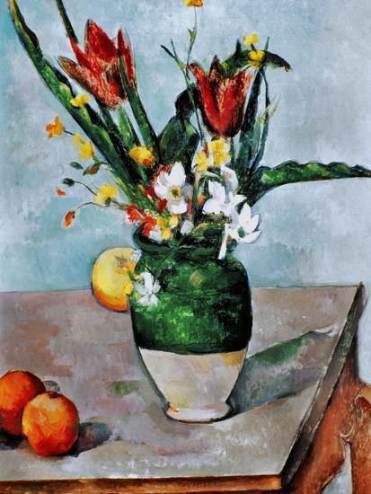 The Vase of Tulips, c. 1890-Paul C?zanne-Giclee Print