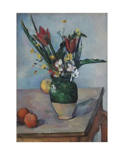 The Vase of Tulips, c. 1890-Paul C?zanne-Giclee Print