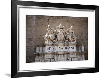 The Vatican Museums, Musei Vaticani, are the public art and sculpture museums in the Vatican Cit...--Framed Photographic Print