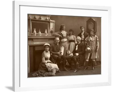 The Vaudeville Company in 'The Road to Ruin, at the Vaudeville Theatre, London, 1886- Barraud-Framed Photographic Print