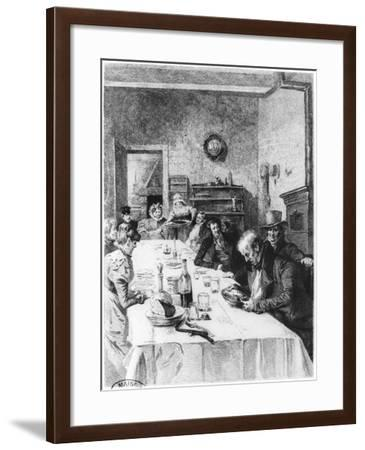 """The Vauquer Boarding House, Illustration from """"Le Pere Goriot"""" by Honore De Balzac 1900-Albert Lynch-Framed Giclee Print"""