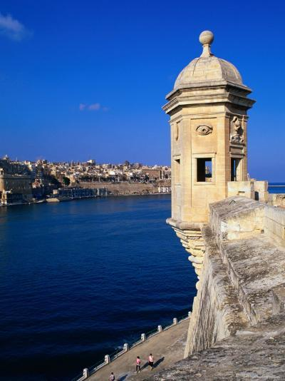 The Vedette at Senglea Overlooking the Grand Harbour, Valletta, Malta-Michael Gebicki-Photographic Print