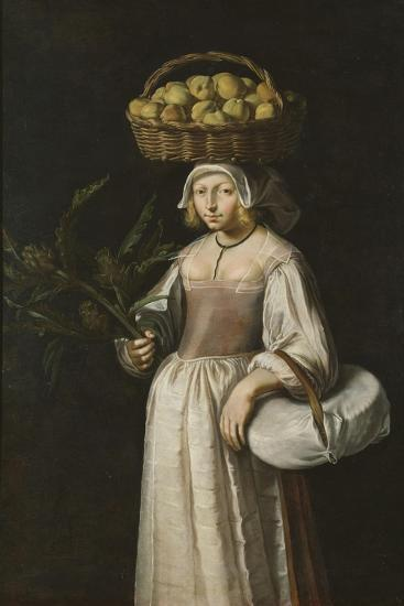 The Vegetable Seller-French School-Giclee Print