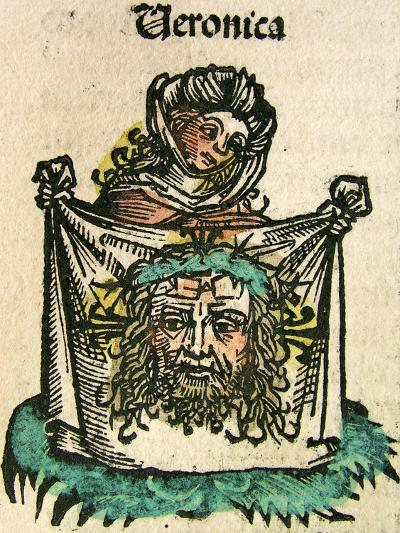 The Veil of Veronica, Published in the Nuremberg Chronicle, 1493--Giclee Print