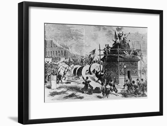 The Vendome Column Just after its Fall-Auguste Andre Lancon-Framed Giclee Print
