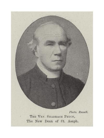 The Venerable Shadrach Pryce, the New Dean of St Asaph--Giclee Print