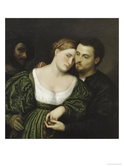 The Venetian Lovers-Paris Bordone-Giclee Print