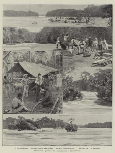 The Venezuela Question, the Debatable Land in British Guiana--Giclee Print