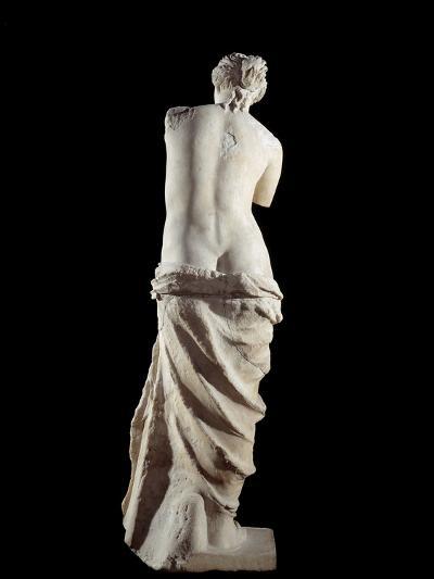 The Venus De Milo - Detail of a Marble Sculpture of Aphrodite--Photographic Print
