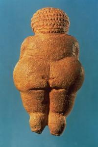 The Venus of Willendorf, Rear View of Female Figurine, Gravettian Culture Upper Palaeolithic Period