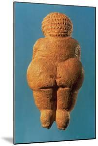 The Venus of Willendorf, Rear View of Female Figurine, Gravettian Culture Upper Palaeolithic Period