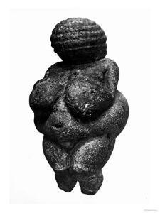 The Venus of Willendorf, Side View of Female Figurine, Gravettian Culture, Upper Paleolithic Period