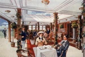 The Verandah Cafe as it Was Aboard the Lusitania and Mauretania