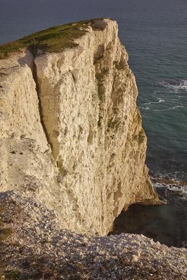 The Vertical Chalk Cliffs Near Durdle Door, in the Jurassic Coast World Heritage Site-Nigel Hicks-Photographic Print