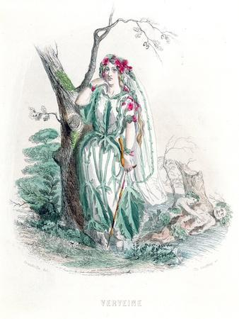 The Vervain, from 'Les Fleurs Animees', Engraved by Charles Geoffroy  (1819-82), 1847 Giclee Print by Grandville | Art com