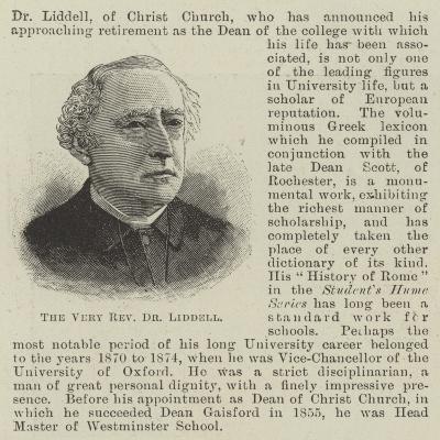 The Very Reverend Dr Liddell--Giclee Print