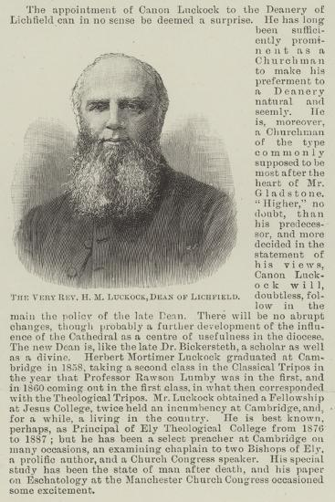 The Very Reverend H M Luckock, Dean of Lichfield--Giclee Print