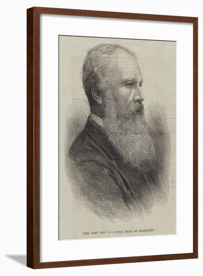 The Very Reverend J C Ryle, Dean of Salisbury--Framed Giclee Print